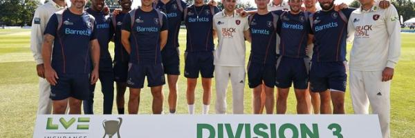 Kent win Division Three title