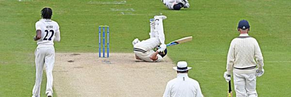 Sussex knock Kent over at Hove